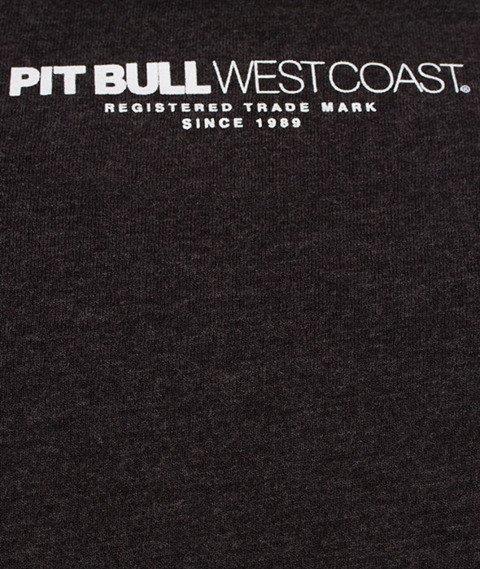 Pit Bull West Coast-Chest Logo T-Shirt Charcoal