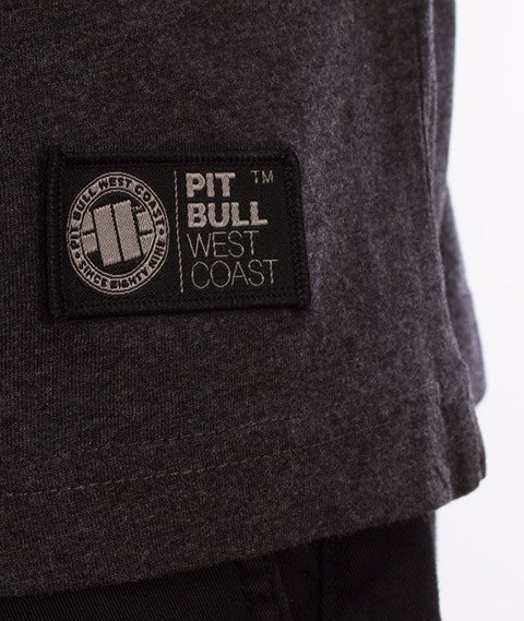 Pit Bull West Coast-Chest Logo T-Shirt Charcoal