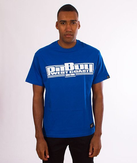Pit Bull West Coast-Classic Boxing T-Shirt Royal Blue