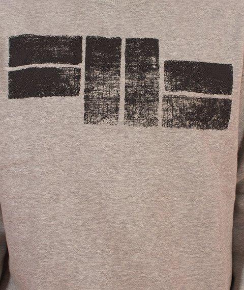 Pit Bull West Coast-Logo Crewneck Bluza Szara