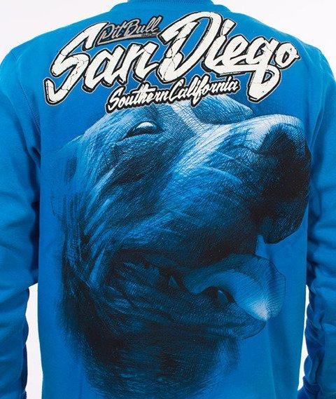 Pit Bull West Coast-San Diego Dog Crewneck Bluza Niebieska