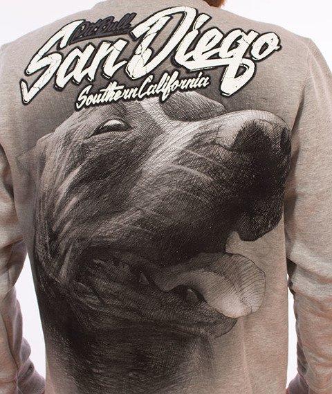 Pit Bull West Coast-San Diego Dog Crewneck Bluza Szara