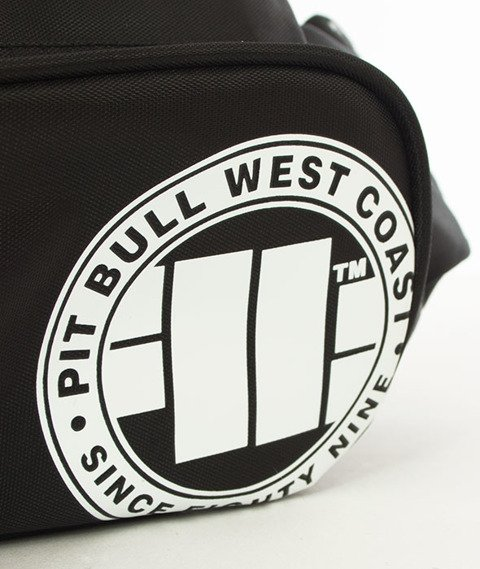 Pit Bull West Coast-Saszetka Nerka Logo Czarno-biała