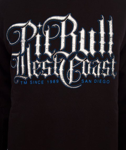 Pit Bull West Coast-Skull Dog 18 Crewneck Bluza Czarna