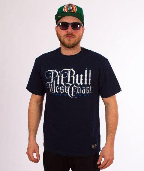 Pit Bull West Coast-Skull Dog 18 T-Shirt Granatowy