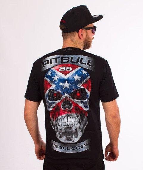 Pit Bull West Coast-Skull Rebel T-Shirt Czarny