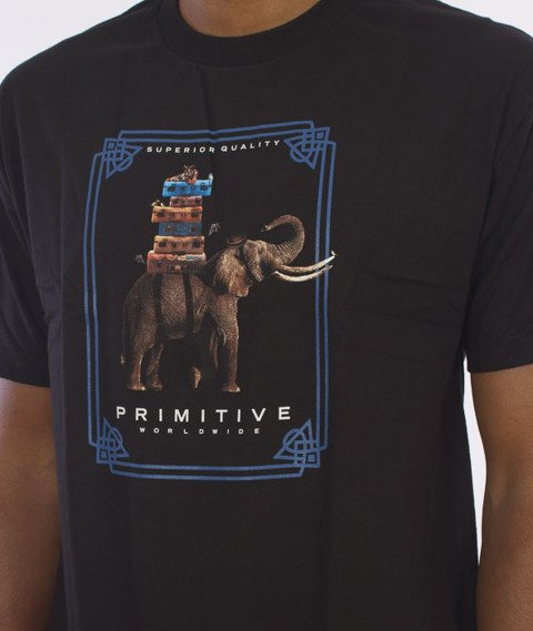 Primitive-Traveller T-Shirt Czarny