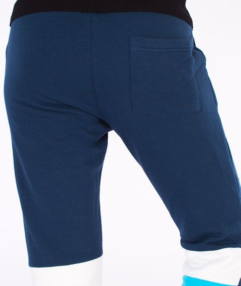 Prosto-Calmice Spodnie Dresowe Damskie Granatowe