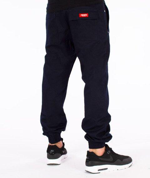 Prosto-Chino Jogger Spodnie Granatowe