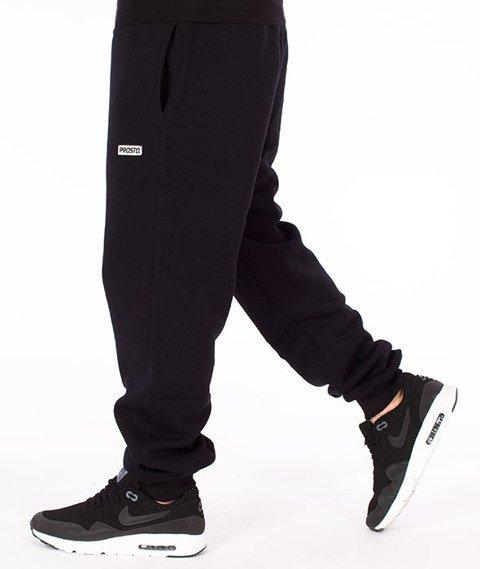 Prosto-Costela Spodnie Dresowe Czarne