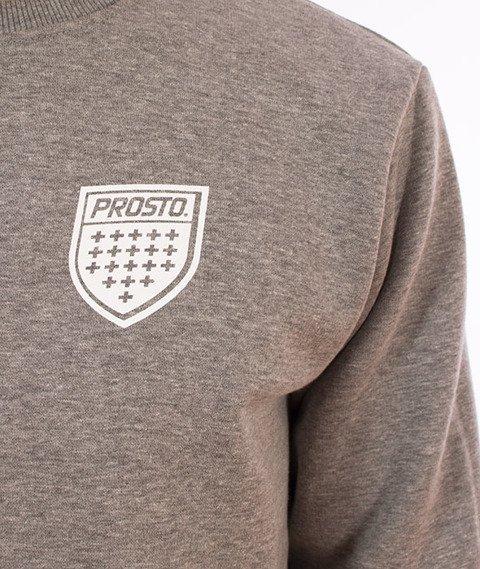 Prosto-Cuff Crewneck Bluza Szara