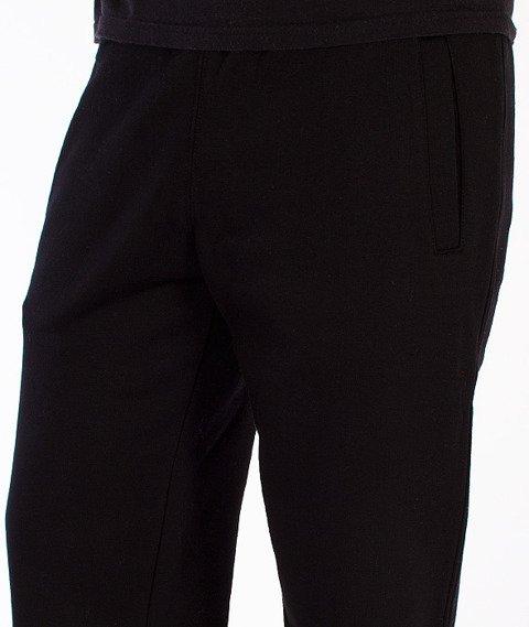 Prosto-Pocket Logo Spodnie Dresowe Czarne