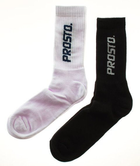 Prosto-Socks 2Pack1 Logo Pionowe White/Black