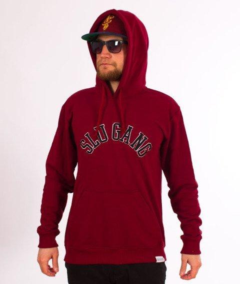 RPS KLASYKA-SLU Gang College Hoodie Bluza Z Kapturem Bordo