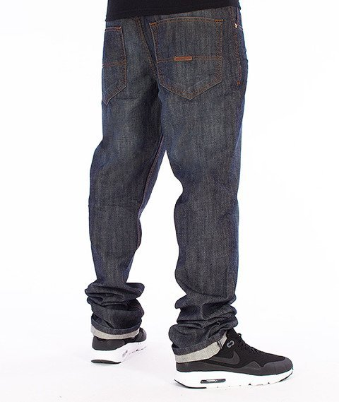 RocaWear-Dark Blue Relaxed Fit Spodnie Jeans R00J9911L 856