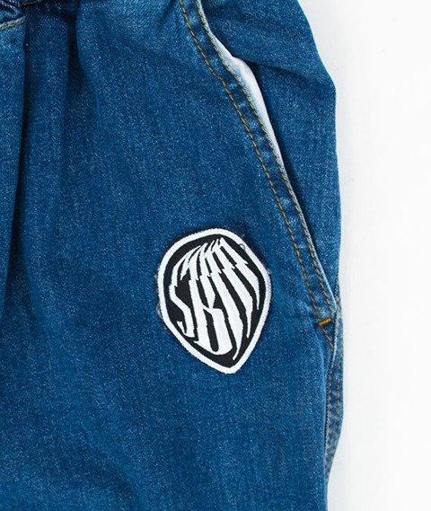 SB Maffija-Jogger Pants Jeans SBM Glitcher Spodnie Niebieskie