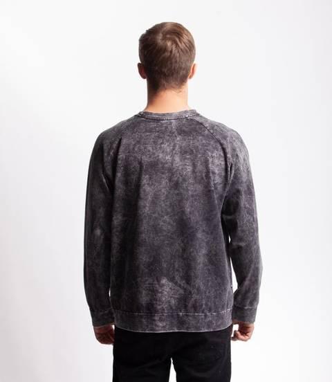 Smoke Story TIEDYE BASIC Bluza bez kaptura Czarny Jeans Sprany