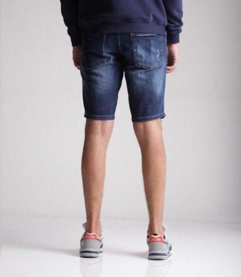 Smoke Story Wycierane Krótkie Spodnie Dark Jeans