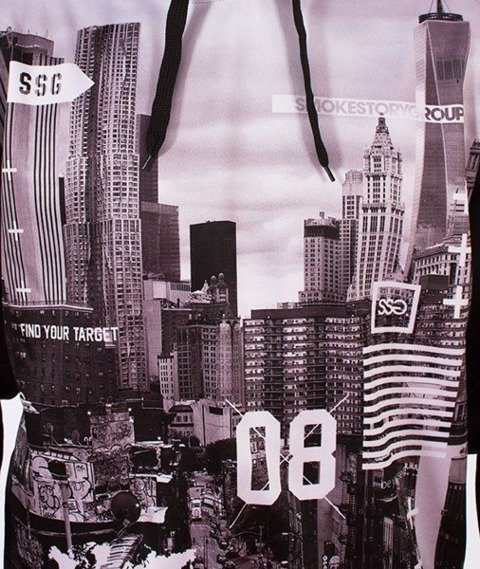 SmokeStory-BW City Bluza z Kapturem Czarna