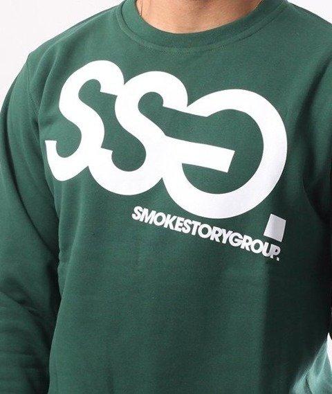 SmokeStory-Big Crewneck Bluza Zielony