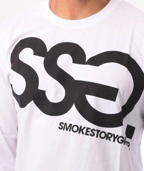 SmokeStory-Big Longsleeve Biały