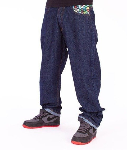 SmokeStory-Cans Baggy Jeans Dark Blue