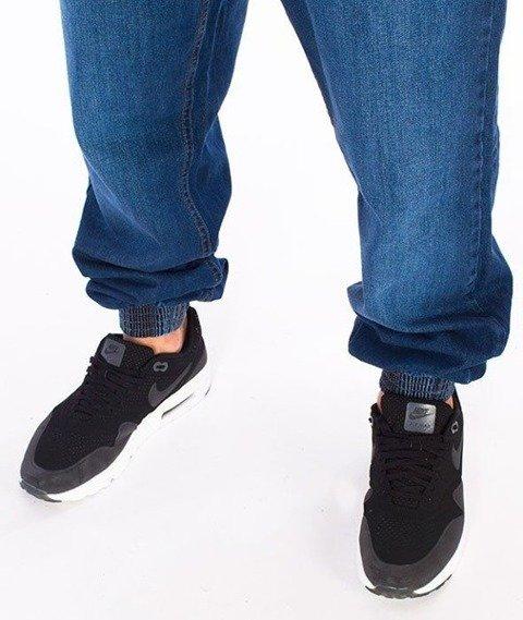 SmokeStory-Classic Jogger Jeans Regular Spodnie Wycierane Niebieskie