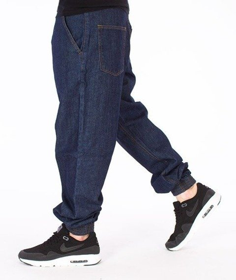 SmokeStory-Classic Jogger Regular Jeans Spodnie Dark Blue