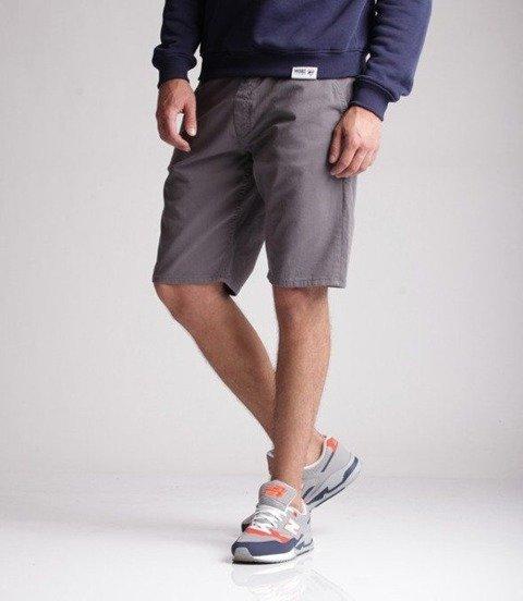 SmokeStory-Classic Krótkie Spodnie Chino Guma Tkaninowe Szare