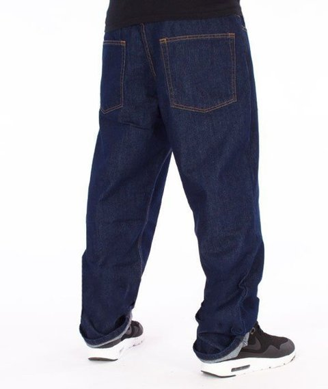 SmokeStory-Classic Regular Jeans Spodnie Dark Blue