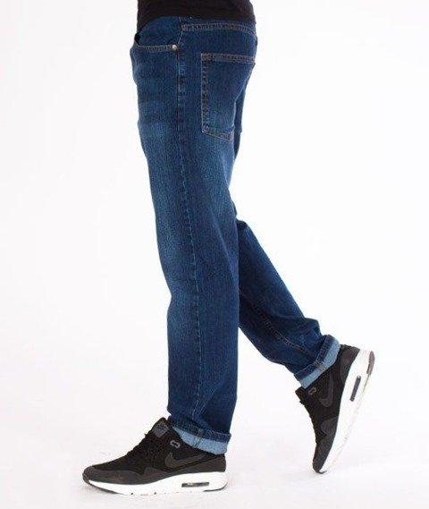 SmokeStory-Classic Slim Jeans Spodnie Wycierane