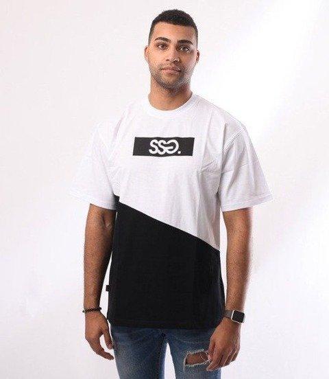 SmokeStory-Cut Front Back T-Shirt Biały/Czarny