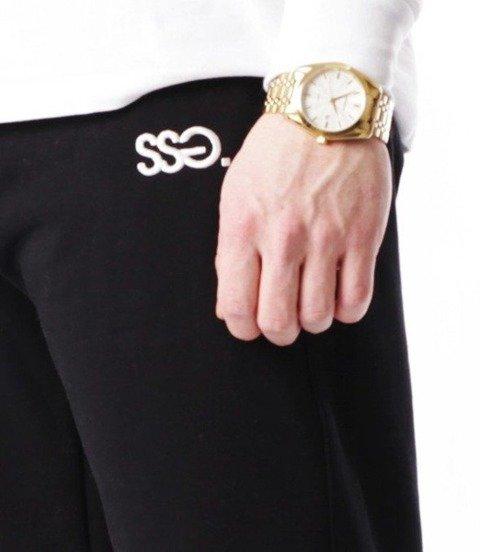 SmokeStory-Cut White Belt Spodnie Jogger Czarny