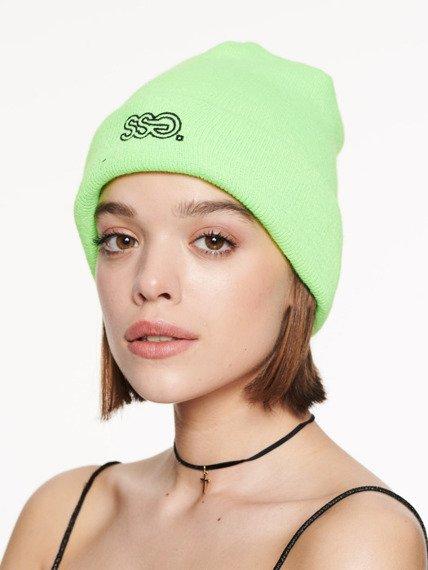 SmokeStory-Czapka Zimowa neon zielony