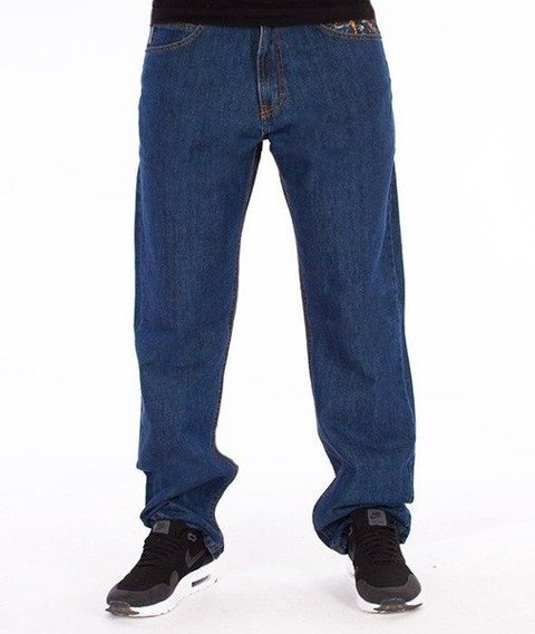 SmokeStory-Dark City Parts Regular Jeans Medium Blue