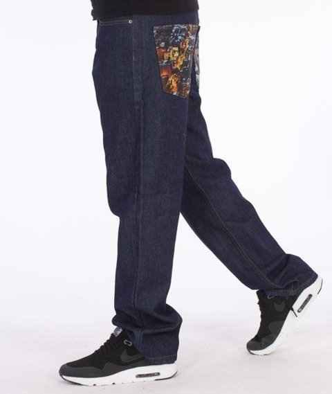 SmokeStory-Dark City Pocket Regular Jeans Dark Blue
