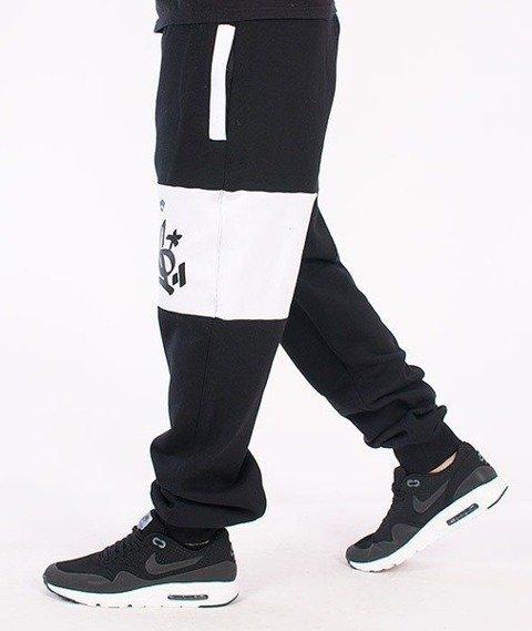 SmokeStory-Double Color Regular Spodnie Dresowe Czarne/Białe