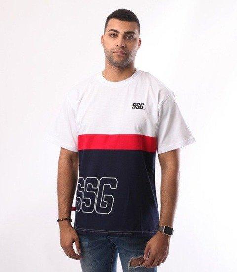 SmokeStory-Double SSG T-Shirt Biały/Granat