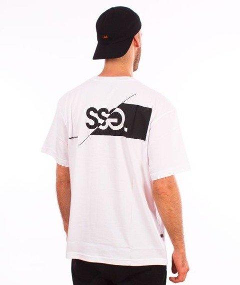SmokeStory-Front Back Cut Logo T-Shirt Biały