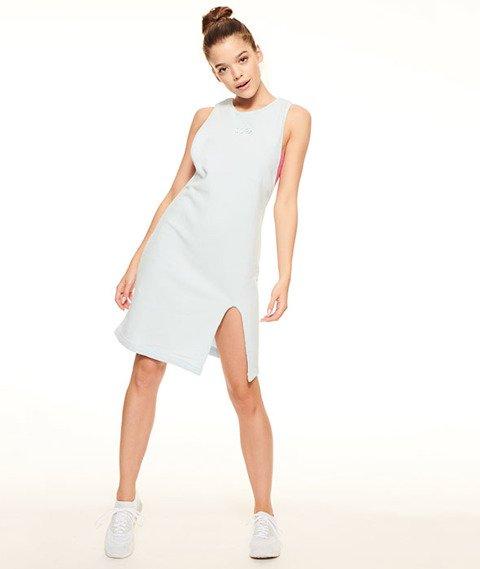 SmokeStory-Frotte Tank Dress Sukienka Błękit/Róż