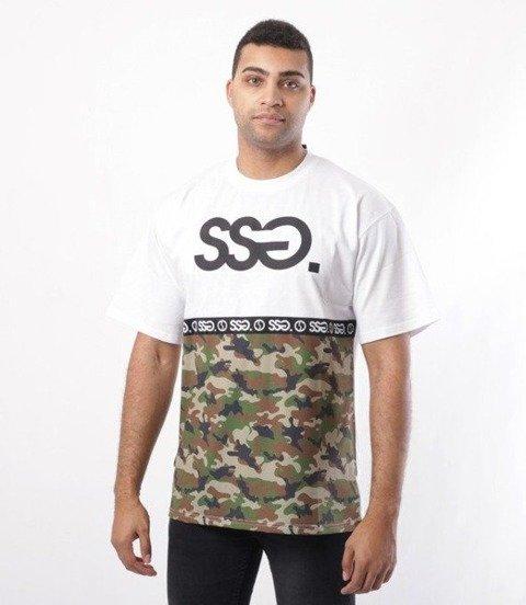 SmokeStory-Half Moro T-Shirt Biały