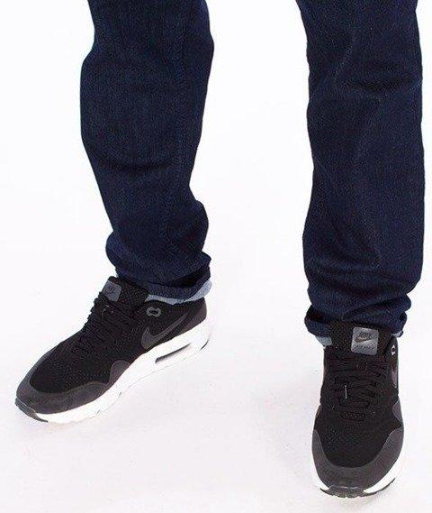 SmokeStory-Jeans Stretch Straight Fit Guzik Spodnie Dark