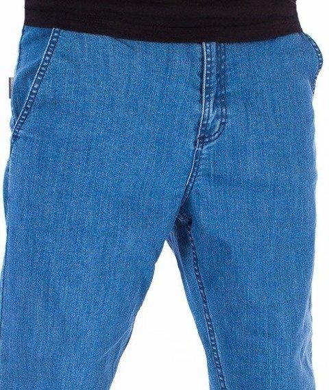 SmokeStory-Jeans Stretch Straight Fit Guzik Spodnie Light