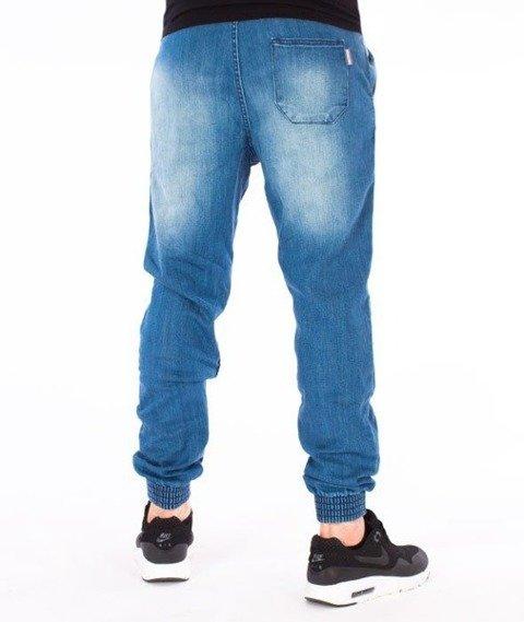 SmokeStory-Jogger Premium Slim Fit Guma Spodnie z Dziurami