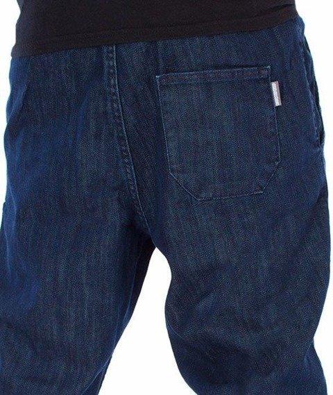 SmokeStory-Jogger Slim Jeans Guma Spodnie Medium Blue