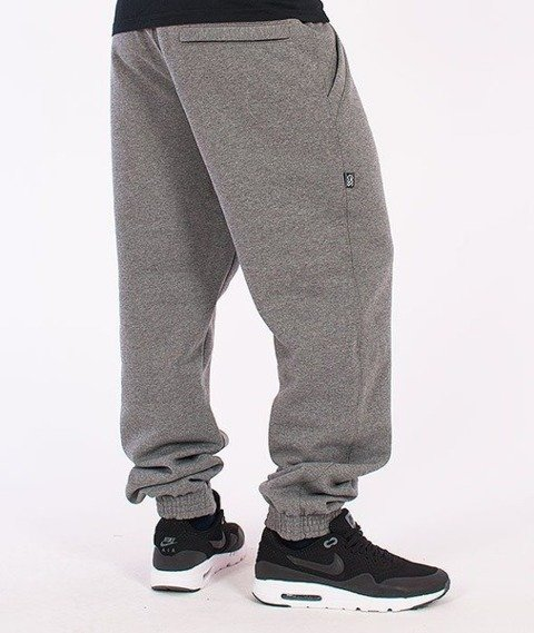 SmokeStory-Jogger Square Spodnie Dresowe Grafitowe