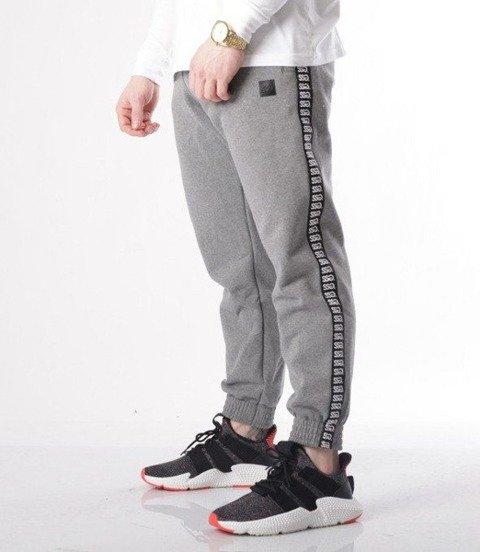 SmokeStory-Lampas Logo Spodnie Jogger Ciemny Szary