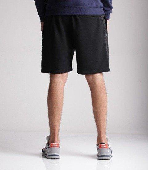 SmokeStory-Light Lampas Czarny Krótkie Spodnie Bawełniane Czarne