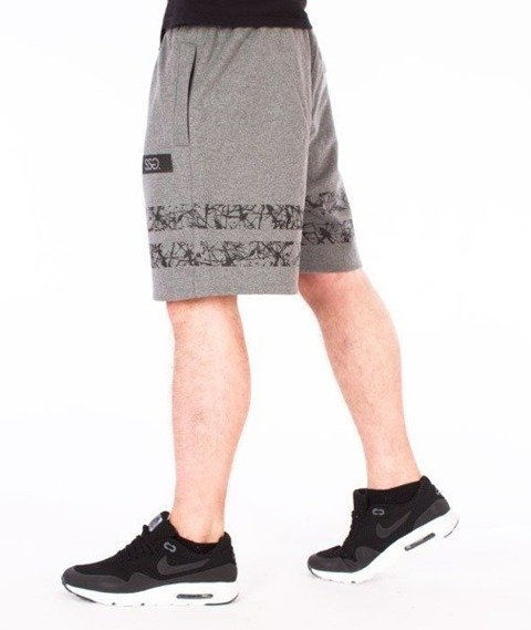 SmokeStory-Lines Krótkie Spodnie Dresowe Grafitowe