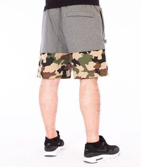 SmokeStory-Moro Wstawki Premium Krótkie Spodnie Dresowe Szare/Camo